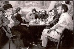 1975 _  Cool dudes hanging at the Cafe Trieste Coffee House