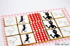 Ant picnic cookies and red gingham