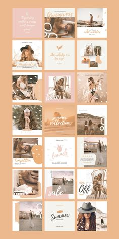 $25 · Wanting to give your audience a sense of wanderlust? The Boho Social Feed Template is a set of 30 airy and whimsical pre-branded designs, great for creating a cohesive look on all social platforms. Using fully customizable Canva Templates, inspire your audience with on-brand social posts that are fresh and boho-chic with ease. Branding Kit, Business Branding, Instagram Feed, Instagram Posts, Social Media Branding, Instagram Post Template, Boho Look, Social Platform, Platforms
