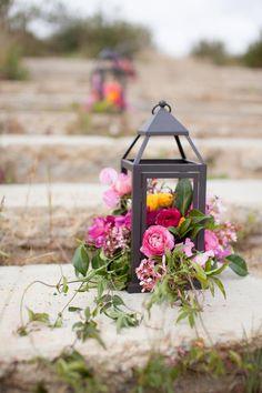 Grandmas Dreams ~ flowers in a lantern