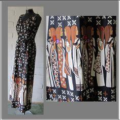 HALF OFF PRICE 1960s Hawaiian Maxi Dress Created by Liberty House by Malia…