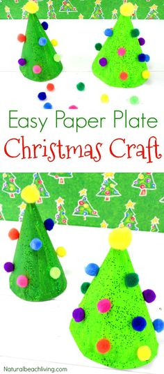 Easy Paper Plate Christmas Crafts, Paper Plate Christmas Tree Craft, Paper Plate Crafts for Preschoolers, Christmas Paper Plate Crafts for Kids to Make, Fun and Colorful Kid Made Decoration for Christmas, #christmascrafts #Craftsforkids #preschoolcrafts