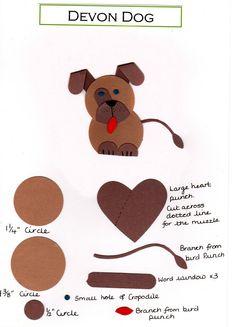 Punch Art Patterns | Lavenderstamper: Devon dog Punch art