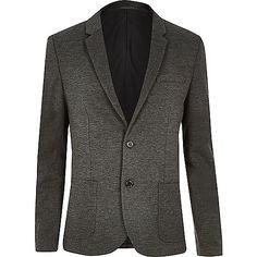 Grey skinny blazer - blazers - men