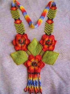 Huichol Rose Necklace