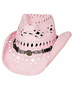b1301aed0d1 Bullhide All Summer Long Pink Toyo Straw Cowgirl Hat Pink Cowboy Hat