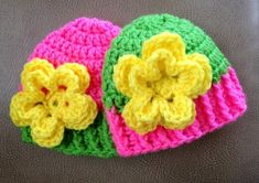 Baby Flower Beanie Crochet Pattern by sgyvip