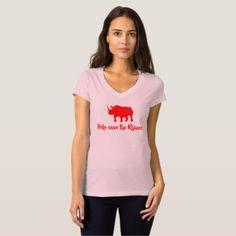 Help save the rhinos womans shirt - white gifts elegant diy gift ideas