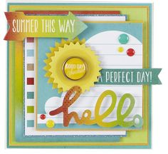 NEW Simple Stories Good Day Sunshine - Scrapbook.com - Made with Simple Stories supplies.