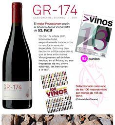 GR-174 2011, el mejor Priorat joven del año! Bottle, Home, Wine, Get Well Soon, Flask