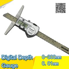58.08$  Watch now - http://alicqt.shopchina.info/1/go.php?t=32656651695 - Free shipping SHAHE 0-300mm Stainless Steel Digital Depth Vernier Caliper depth gauge depth caliper digital caliper depth  #aliexpress