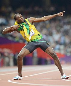 Usain Bolt wins 200; first to win 100, 200 in straight games.