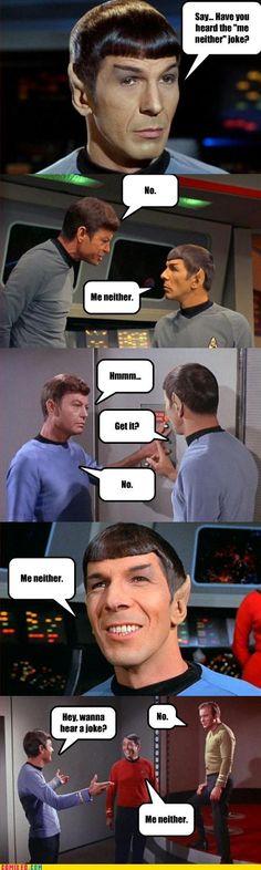 Spock tells a joke - by Luke Ghedin