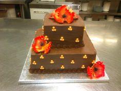chocolate buttercream wedding cake