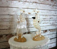 Caballito de mar boda pastel de boda por MorganTheCreator en Etsy