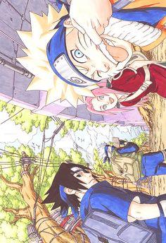 Missing Quotes : Naruto/Sasuke/Sakura/Kakashi sensei/ ➠ anime ➠ Naruto Uzumaki Shippuden, Naruto And Sasuke, Anime Naruto, Art Naruto, Kurama Naruto, Naruto Team 7, Naruto Drawings, Kakashi Sensei, Naruto Sasuke Sakura