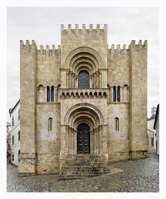 Coimbra, Sé Velha, Portugal, Markus Brunetti Exquisitely Photographs the Cathedrals of Europe. Romanesque Architecture, Church Architecture, Classical Architecture, Historical Architecture, Sustainable Architecture, Landscape Architecture, Aachen Cathedral, Strasbourg Cathedral, Cathedral Church