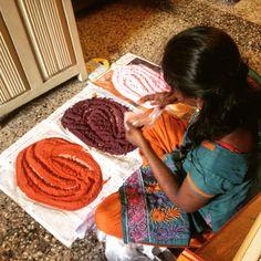 Kolam preparation at Sita