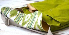 IKAT Bright  chartreuse green Messenger bag / Cross