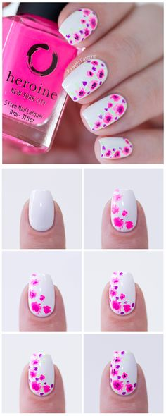 Easy Floral Nail Art - Step by Step Tutorial