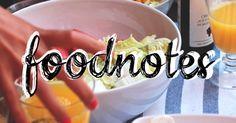 Foodnotes.... ..to jsou recepty a zápisky o jídle a vaření, se kterými vám to půjde jedna báseň.