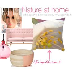 "mood board with pillow ""spring blossom 2"" by www.ilsephilips.nl"