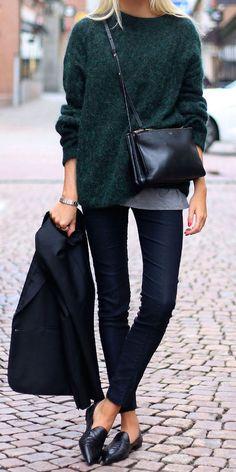 dark green + navy