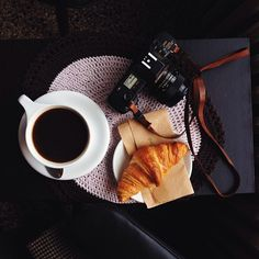 I have not been taking many photos in the city, since I've not spent much time here. But today, enjoying a cup of coffee and the most buttery croissant I've had in a long time, before anyone else was. Croissants, Coffee Staining, Joy Of Life, Coffee Maker, Starfish, Tea Time, Beverage, Cameras, Photo Shoot