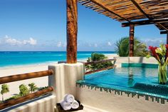 The view from the Presidential Suite at Secrets Maroma Beach