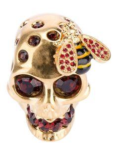 ALEXANDER MCQUEEN - skull and bee ring 4