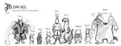 animal species, sizing chart, redwall, brian jacques, badger illustration, redwall character, the great red wall feast, otter, hare, cluny the scourge, jacques characters