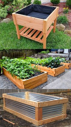 28 Best DIY raised bed gardens: easy tutorials, ideas & designs to build raised beds or vegetable & flower garden box planters with inexpensive materials! - A Piece of Rainbow backyard, landscaping, gardening tips, homesteading Raised Planter Beds, Raised Garden Bed Plans, Raised Bed Garden Design, Raised Garden Beds Irrigation, Garden Box Plans, Backyard Vegetable Gardens, Vegetable Garden Design, Vegetable Planters, Above Ground Garden