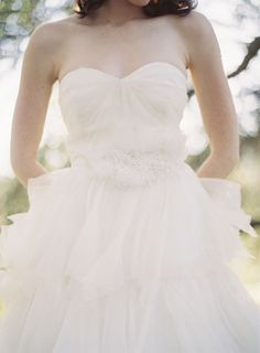 Strapless Tulle Bridal Gown With Jeweled Waistband - Elizabeth Anne Designs: The Wedding Blog