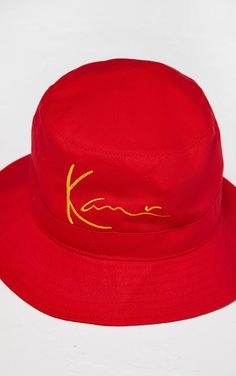 974145bff39ec Karl Kani Red Embroidered Bucket Hat