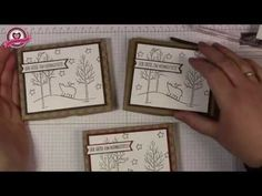 ▶ Tutorial: Verpackung für eine Tafel Rittersport mit Produkten von Stampin' Up! - YouTube