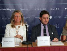 Angeles Munoz, mayoress of Marbella in Marbella Luxury Weekend Presentation 2014 in Puerto Banus.