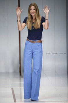 pantalones de jeans tiro alto anchos – tenencias pantalones de jeans –  Noticias de Moda Argentina b18fb21e43a8