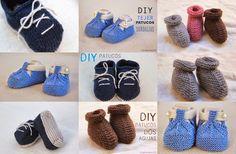 Tutoriales patucos de lana DIY con dos agujas (patrón gratis incluido)