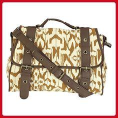 Eye Catch - Womens Stripe Aztec Canvas Satchel Cross Body Shoulder Bag Handbag - Shoulder bags (*Amazon Partner-Link)