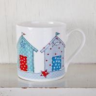 beach hut Mug by dots and spots