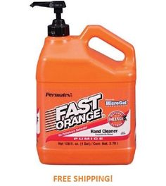 Fast Orange Pumice Hand Cleaner Lotion 1 Gal with Pump Dispenser Grease Oil NEW…