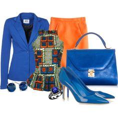 """Orange/Blue"" by arbbednnyl on Polyvore"