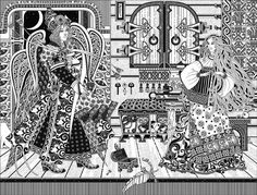. Russian Folk Art, Illustrators, Fairy Tales, Abstract, Dark, Artwork, Prints, Album, Summary