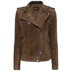 Mango Suede biker jacket ($110) ❤ liked on Polyvore