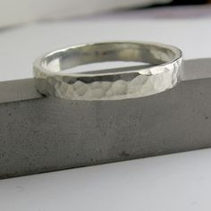 Hand Hammered Sterling Silver Ring - Custom Personalized Band for your Sweetheart. $39.99, via Etsy.