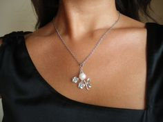 Cherry Blossom necklace  silver tone rhodium plated by GBILOBA, €17.00