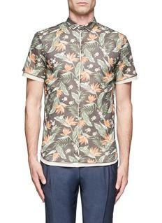 KOLORFloral layered shirt