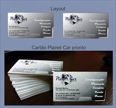 Cartão de visitas para Planet Car loja de automóveis.