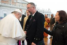 """The brother and widow of two British aid workers killed by Islamic State militants last autumn were among the participants in yesterday's General Audience, during which they briefly met with Pope Francis and received his blessing.  """"Pope Francis has called for a common commitment to end fighting, hatred and violence. Mike Haines is living that commitment in an extraordinary way,"""" Nigel Baker, the British ambassador to the Holy See..."""