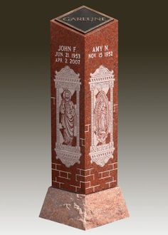 The Elegant Cremation Pillar is pictured in mountain red granite and pure bronze which will let you memorialize your loved one forever. Our Cremation Pillars are made to industry standards and regulations. Memorials.com has created a 5 Star Customer Service Rating Program for you to feel comfortable when purchasing from us. We are members of many trade organizations.